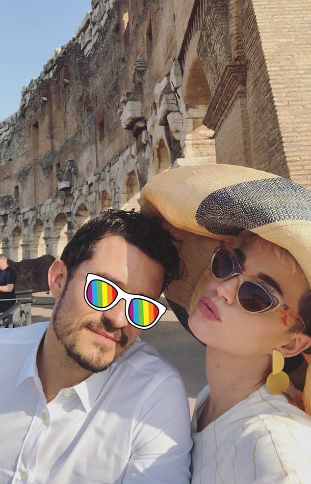 Katy Perry, Orlando Bloom, Colosseum, Rome